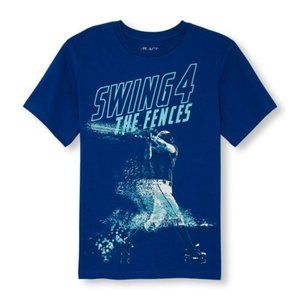 Blue Swing For The Fences Graphic T-Shirt